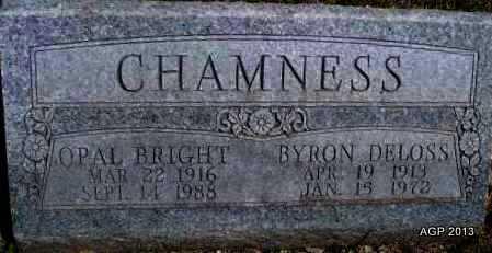 BRIGHT CHAMNESS, OPAL - Montgomery County, Kansas | OPAL BRIGHT CHAMNESS - Kansas Gravestone Photos