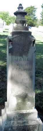 CHAPPELL, JANE - Montgomery County, Kansas | JANE CHAPPELL - Kansas Gravestone Photos