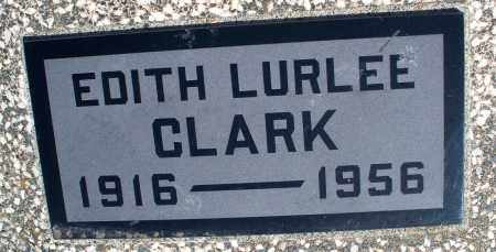 CLARK, EDITH LURLEE - Montgomery County, Kansas | EDITH LURLEE CLARK - Kansas Gravestone Photos