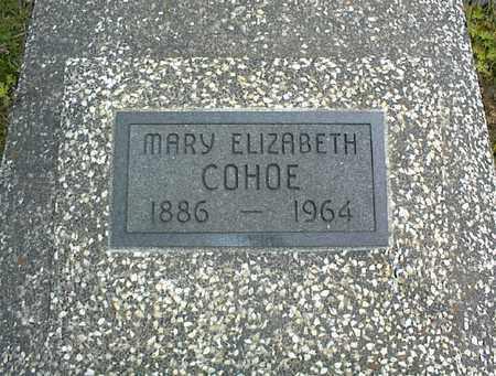 COHOE, MARY ELIZABETH - Montgomery County, Kansas | MARY ELIZABETH COHOE - Kansas Gravestone Photos