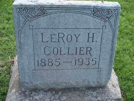 COLLIER, LEROY H. - Montgomery County, Kansas | LEROY H. COLLIER - Kansas Gravestone Photos