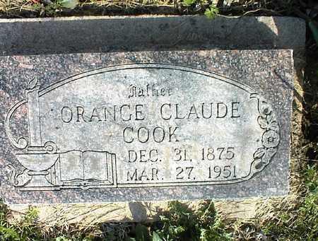 COOK, ORANGE CLAUDE - Montgomery County, Kansas | ORANGE CLAUDE COOK - Kansas Gravestone Photos