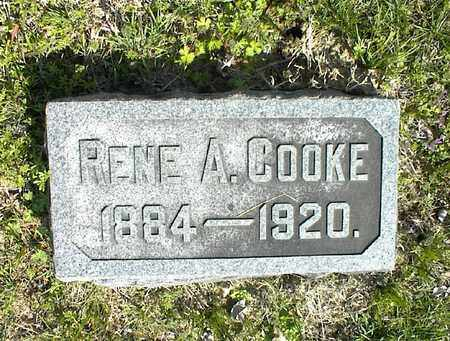 COOKE, RENE A  - Montgomery County, Kansas   RENE A  COOKE - Kansas Gravestone Photos