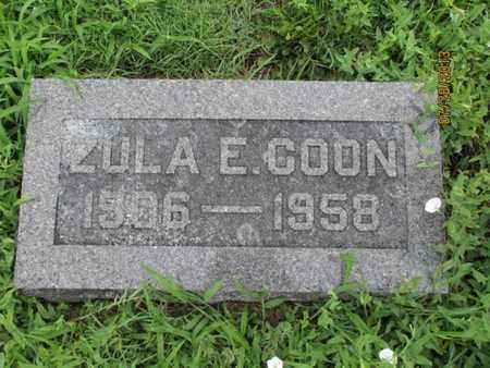 COON, ZULA E - Montgomery County, Kansas | ZULA E COON - Kansas Gravestone Photos