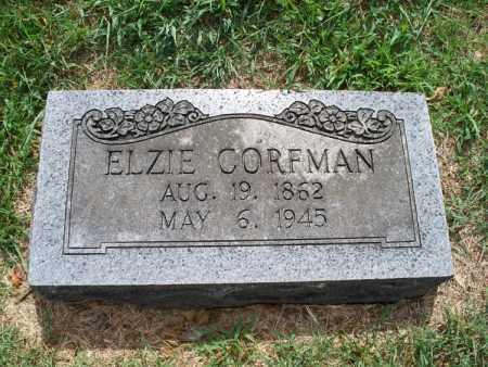 CORFMAN, ELZIE - Montgomery County, Kansas | ELZIE CORFMAN - Kansas Gravestone Photos