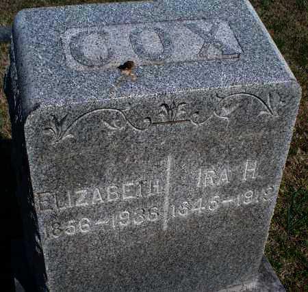 COX, ELIZABETH - Montgomery County, Kansas | ELIZABETH COX - Kansas Gravestone Photos
