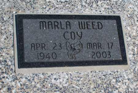 WEED COY, MARLA - Montgomery County, Kansas | MARLA WEED COY - Kansas Gravestone Photos