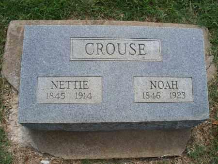 CROUSE, NETTIE - Montgomery County, Kansas   NETTIE CROUSE - Kansas Gravestone Photos