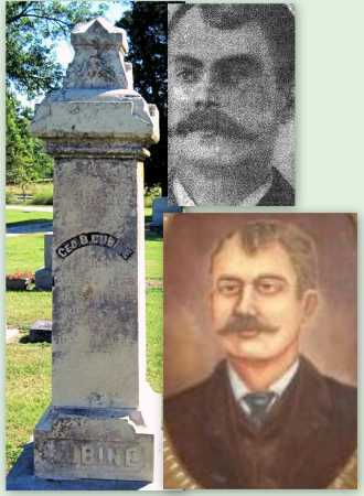 CUBINE, GEORGE B (FAMOUS???) - Montgomery County, Kansas | GEORGE B (FAMOUS???) CUBINE - Kansas Gravestone Photos