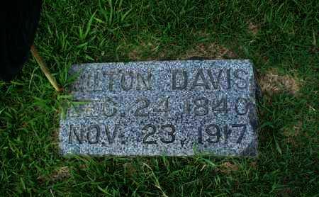 DAVIS, MILTON - Montgomery County, Kansas   MILTON DAVIS - Kansas Gravestone Photos