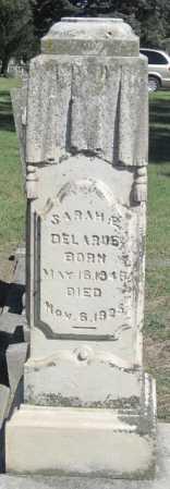 DELARUE, SARAH E - Montgomery County, Kansas   SARAH E DELARUE - Kansas Gravestone Photos