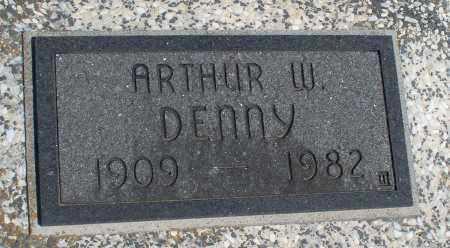 DENNY, ARTHUR W. - Montgomery County, Kansas | ARTHUR W. DENNY - Kansas Gravestone Photos