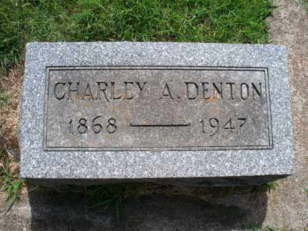 DENTON, CHARLEY A - Montgomery County, Kansas | CHARLEY A DENTON - Kansas Gravestone Photos