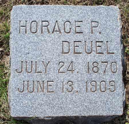 DEUEL, HORACE P - Montgomery County, Kansas | HORACE P DEUEL - Kansas Gravestone Photos