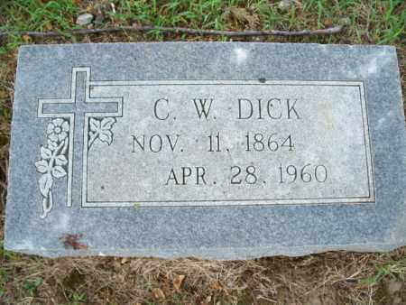 DICK, C. W. - Montgomery County, Kansas | C. W. DICK - Kansas Gravestone Photos
