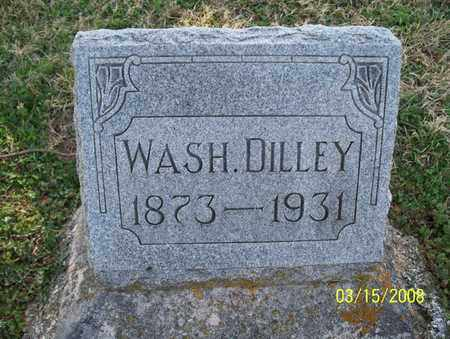 DILLEY, WASH. - Montgomery County, Kansas | WASH. DILLEY - Kansas Gravestone Photos