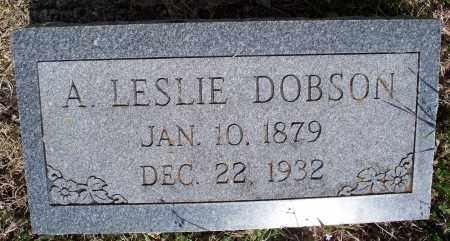 DOBSON, A. LESLIE - Montgomery County, Kansas   A. LESLIE DOBSON - Kansas Gravestone Photos
