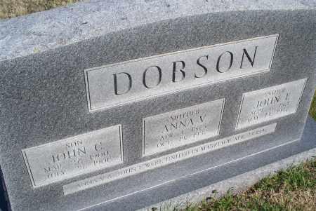 DOBSON, JOHN C - Montgomery County, Kansas | JOHN C DOBSON - Kansas Gravestone Photos