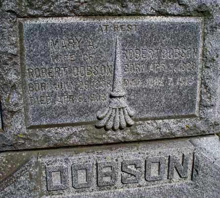 DOBSON, MARY A. - Montgomery County, Kansas   MARY A. DOBSON - Kansas Gravestone Photos