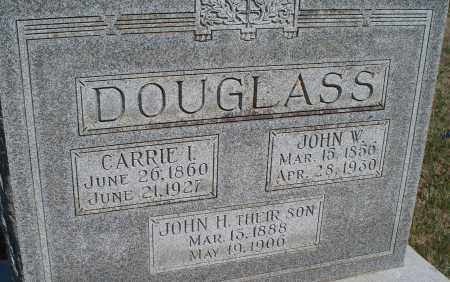 DOUGLASS, CARRIE I - Montgomery County, Kansas | CARRIE I DOUGLASS - Kansas Gravestone Photos