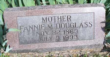 DOUGLASS, FANNIE M - Montgomery County, Kansas | FANNIE M DOUGLASS - Kansas Gravestone Photos