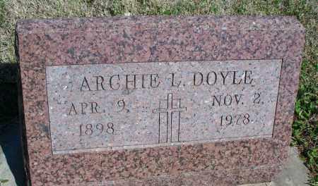 DOYLE, ARCHIE L. - Montgomery County, Kansas   ARCHIE L. DOYLE - Kansas Gravestone Photos