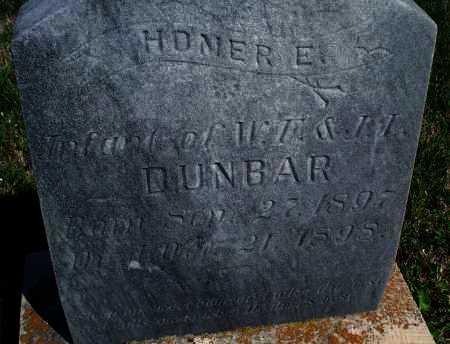 DUNBAR, HOMER E. - Montgomery County, Kansas | HOMER E. DUNBAR - Kansas Gravestone Photos