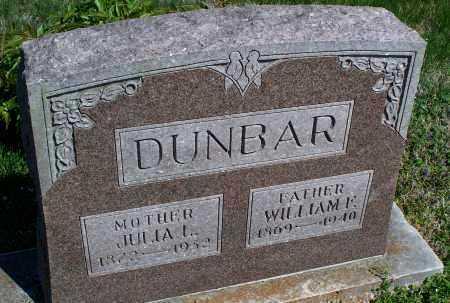 DUNBAR, JULIA L. - Montgomery County, Kansas | JULIA L. DUNBAR - Kansas Gravestone Photos