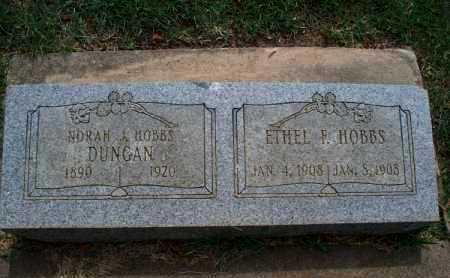 HOBBS, ETHEL F. - Montgomery County, Kansas   ETHEL F. HOBBS - Kansas Gravestone Photos