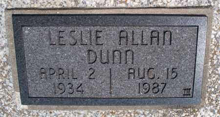ALLAN DUNN, LESLIE - Montgomery County, Kansas   LESLIE ALLAN DUNN - Kansas Gravestone Photos