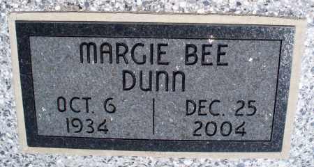 DUNN, MARGIE BEE - Montgomery County, Kansas   MARGIE BEE DUNN - Kansas Gravestone Photos