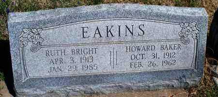 BRIGHT EAKINS, RUTH - Montgomery County, Kansas   RUTH BRIGHT EAKINS - Kansas Gravestone Photos