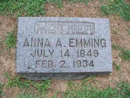 EMMING, ANNA A - Montgomery County, Kansas | ANNA A EMMING - Kansas Gravestone Photos