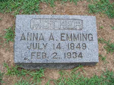EMMING, ANNA A - Montgomery County, Kansas | ANNA A EMMING - Kansas Gravestone Photos