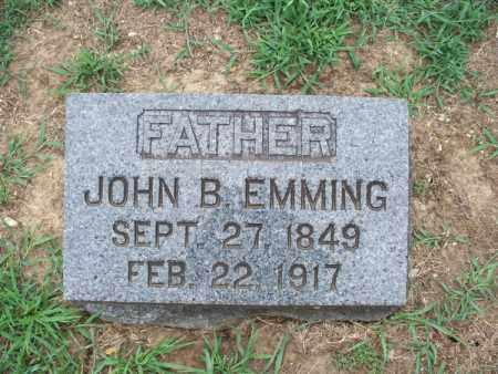 EMMING, JOHN B - Montgomery County, Kansas | JOHN B EMMING - Kansas Gravestone Photos