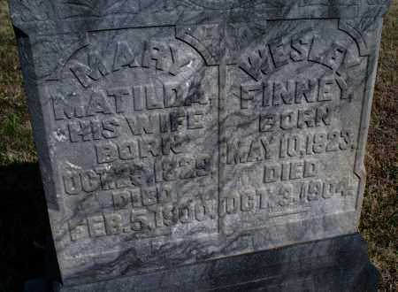 FINNEY, MARY MATILDA - Montgomery County, Kansas   MARY MATILDA FINNEY - Kansas Gravestone Photos