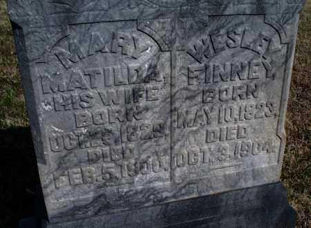 FINNEY, MARY MATILDA - Montgomery County, Kansas | MARY MATILDA FINNEY - Kansas Gravestone Photos