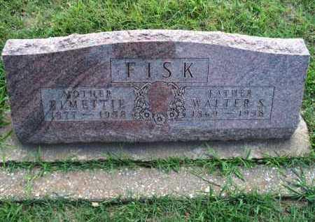 FISK, WALTER S. - Montgomery County, Kansas | WALTER S. FISK - Kansas Gravestone Photos
