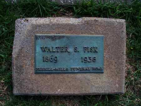 FISK, WALTER S. - Montgomery County, Kansas   WALTER S. FISK - Kansas Gravestone Photos
