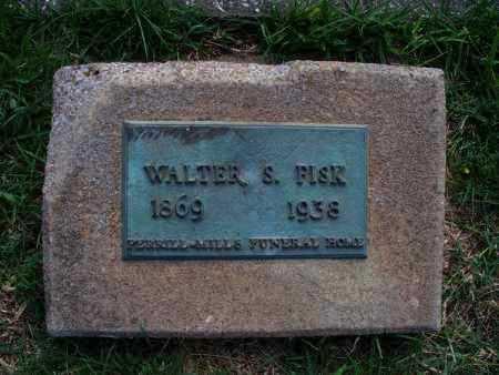 FISK, WALTER S - Montgomery County, Kansas | WALTER S FISK - Kansas Gravestone Photos