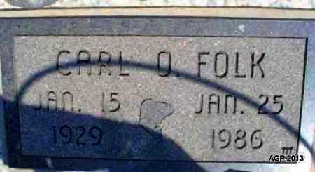 FOLK, CARL O - Montgomery County, Kansas   CARL O FOLK - Kansas Gravestone Photos