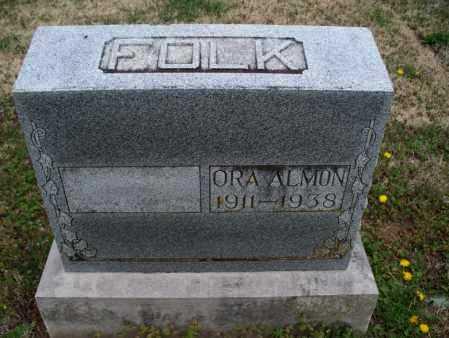 FOLK, ORA ALMON - Montgomery County, Kansas | ORA ALMON FOLK - Kansas Gravestone Photos