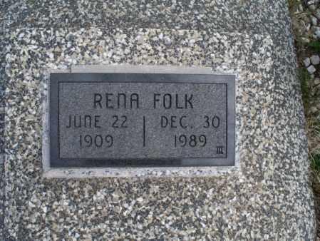 FOLK, RENA - Montgomery County, Kansas | RENA FOLK - Kansas Gravestone Photos