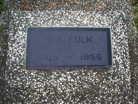 FOLK, V  A  - Montgomery County, Kansas   V  A  FOLK - Kansas Gravestone Photos