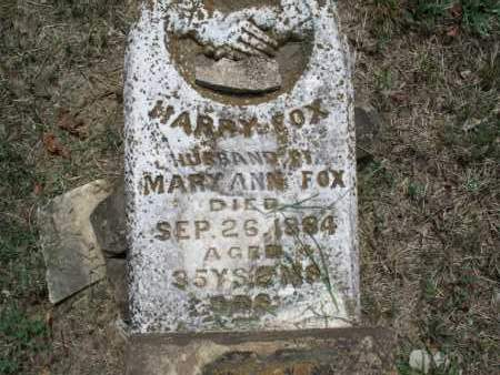 FOX, HARRY - Montgomery County, Kansas | HARRY FOX - Kansas Gravestone Photos