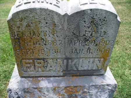 FRANKLIN, LEO L - Montgomery County, Kansas | LEO L FRANKLIN - Kansas Gravestone Photos
