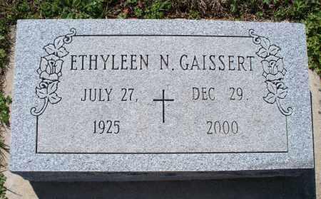 GAISSERT, ETHYLEEN N. - Montgomery County, Kansas | ETHYLEEN N. GAISSERT - Kansas Gravestone Photos