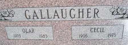 GALLAUGHER, OLAR - Montgomery County, Kansas | OLAR GALLAUGHER - Kansas Gravestone Photos