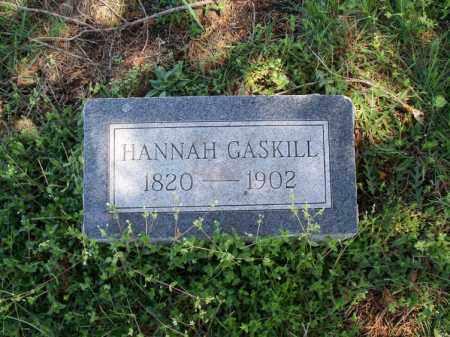 GASKILL, HANNAH HALL - Montgomery County, Kansas | HANNAH HALL GASKILL - Kansas Gravestone Photos