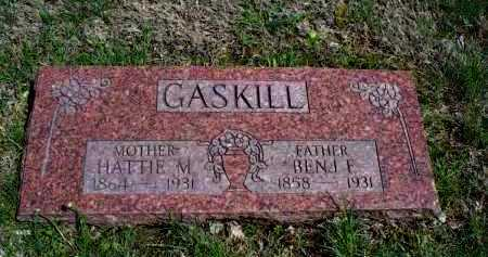 GASKILL, SR, BENJAMIN FRANKLIN - Montgomery County, Kansas | BENJAMIN FRANKLIN GASKILL, SR - Kansas Gravestone Photos